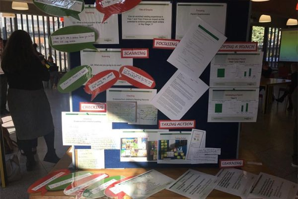 This teacher was looking at how to improve pupil engagement with words - it led her to develop a parent reading program alongside 'word detectives' where students seek out interesting words or phrases and then use them in their own writing the following week - she was so positive and really inspired some of the other people to trial it in their classes!
