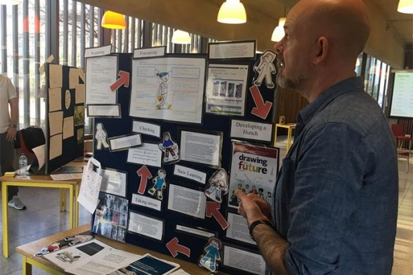 This teacher was presenting his work on aspirations. The scanning phase revealed a gender imbalance in student aspirations (e.g. builders for boys and ballerinas for girls). They have been doing some work around helping pupils to see lots of variety of potential jobs and helping them to make informed choices by bringing local people in etc.